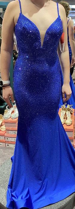 Ellie Wilde Royal Blue Size 8 Pageant Mermaid Dress on Queenly