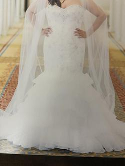Maggie Sottero White Size 12 Sweetheart Plus Size Mermaid Dress on Queenly