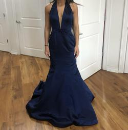 Sherri Hill Blue Size 4 Backless Mermaid Dress on Queenly