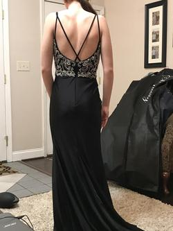 Tiffany Designs Black Size 2 Prom Train Straight Dress on Queenly