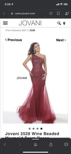 Style 2528 Jovani Red Size 6 Pageant Jewelled Mermaid Dress on Queenly