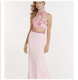 Queenly size 0  Pink Straight evening gown/formal dress