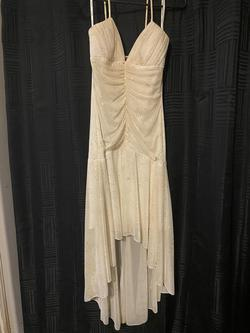 Queenly size 2  Nude A-line evening gown/formal dress
