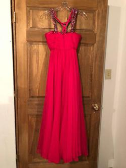 Sherri Hill Pink Size 2 Jewelled A-line Dress on Queenly