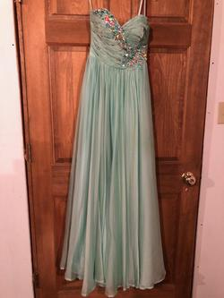 Mori Lee Green Size 0 Prom A-line Dress on Queenly