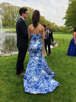 Sherri Hill Multicolor Size 0 Prom Floral Mermaid Dress on Queenly