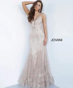 Style 2388 Jovani Light Pink Size 00 Mermaid Dress on Queenly