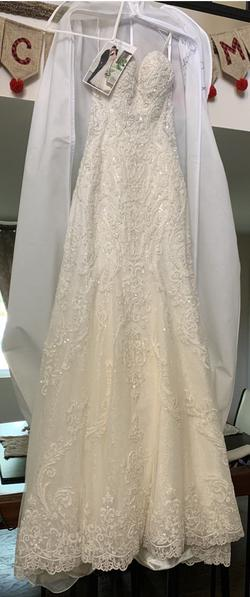 LOVELLA BRIDAL White Size 2 Wedding Embroidery Ball gown on Queenly