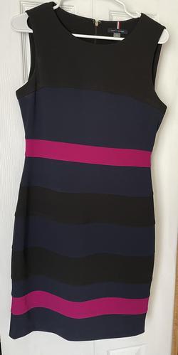 Tommy Hilfiger Multicolor Size 8 Graduation Mini Cocktail Dress on Queenly