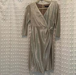 Queenly size 2  Silver Cocktail evening gown/formal dress