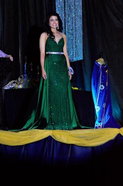 Johnathan Kayne Green Size 4 Pageant Train Dress on Queenly