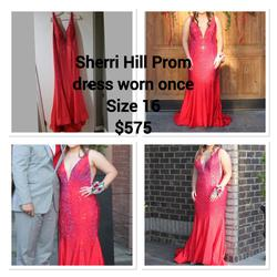 Sherri Hill Red Size 16 Mermaid Dress on Queenly