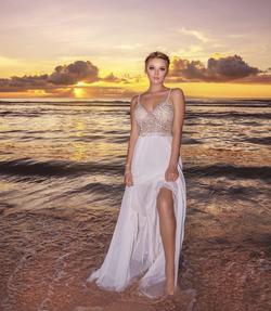 Revolve White Size 2 Wedding Side slit Dress on Queenly