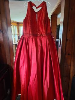 Queenly size 22 Tiffany Designs Red Ball gown evening gown/formal dress