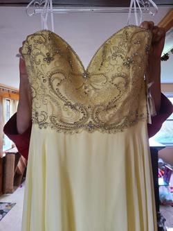 Alyce Paris Yellow Size 20 Plus Size Sequin A-line Dress on Queenly