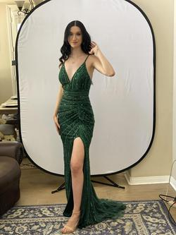 Cat Walk Couture Green Size 6 Tall Height Side slit Dress on Queenly