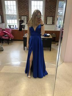 Queenly size 00 Jovani Blue A-line evening gown/formal dress