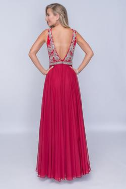 Style 2213 Nina Canacci Red Size 8 Backless Tall Height A-line Dress on Queenly