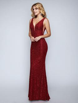 Style 2229 Nina Canacci Red Size 14 Lace Plus Size Straight Dress on Queenly