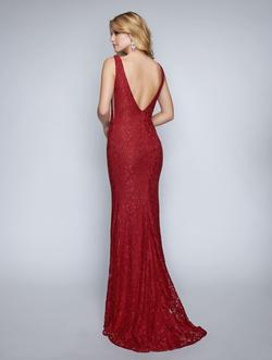 Style 2229 Nina Canacci Red Size 16 Plus Size Lace Backless Straight Dress on Queenly