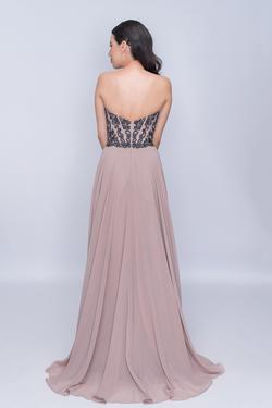 Style 3140 Nina Canacci Nude Size 8 Tall Height A-line Dress on Queenly