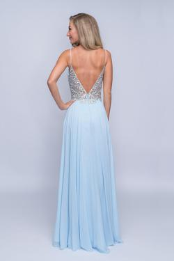 Style 3151 Nina Canacci Blue Size 12 Tall Height Straight Dress on Queenly