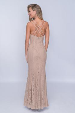 Style 4186 Nina Canacci Nude Size 2 Tall Height Straight Dress on Queenly