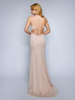 Style 6500 Nina Canacci Nude Size 0 Prom Mermaid Dress on Queenly