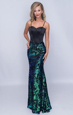 Style 6506 Nina Canacci Green Size 10 Sweetheart Tall Height Mermaid Dress on Queenly