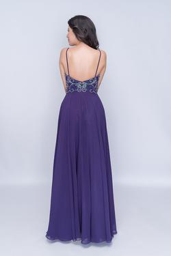 Style 6509 Nina Canacci Purple Size 8 Tall Height A-line Dress on Queenly