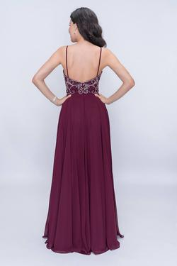 Style 6509 Nina Canacci Red Size 8 Pageant Tall Height A-line Dress on Queenly