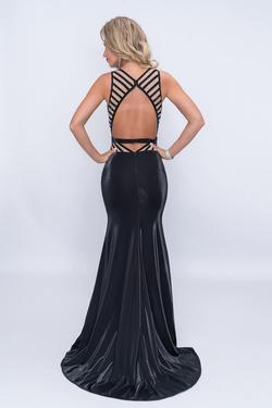 Style 6514 Nina Canacci Black Size 0 Tall Height Prom Pattern Mermaid Dress on Queenly
