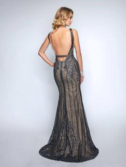 Style 8158 Nina Canacci Black Size 0 Nude Tall Height Lace Mermaid Dress on Queenly