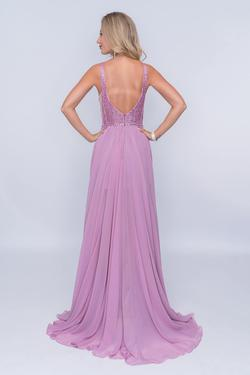 Style 8159 Nina Canacci Purple Size 8 Tall Height A-line Dress on Queenly