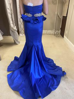 Mac Duggal Royal Blue Size 4 Mermaid Dress on Queenly