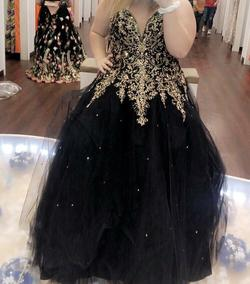 Black Size 24 Ball gown on Queenly