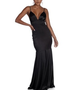 Black Size 10 Mermaid Dress on Queenly