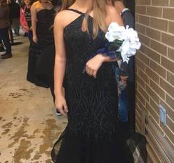 Jovani Black Size 2 Keyhole Prom Mermaid Dress on Queenly