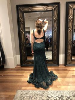 Sherri Hill Green Size 2 Pageant Tall Height Straight Dress on Queenly