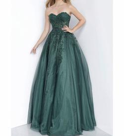 Jovani Green Size 6 Prom Ball gown on Queenly