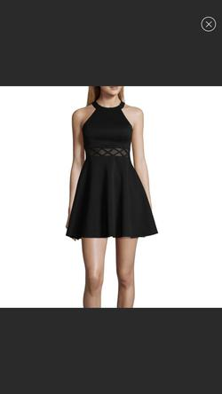 My Michelle Black Size 0 Graduation Cut Out Cocktail Dress on Queenly