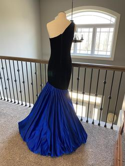 Ashley Lauren Black Size 4 Blue Royal Blue Mermaid Dress on Queenly