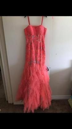 Jovani Orange Size 8 Prom Mermaid Dress on Queenly