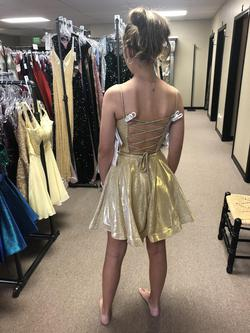 Gold Size 0 A-line Dress on Queenly