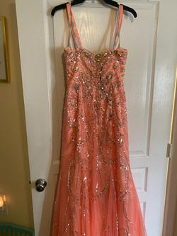 Tony Bowls Orange Size 10 Prom Jewelled Mermaid Dress on Queenly