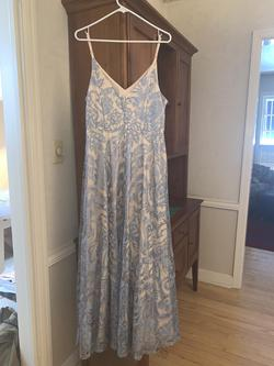 Speechless Blue Size 16 Ivory Plus Size A-line Dress on Queenly