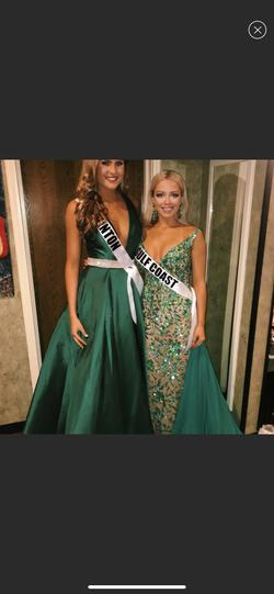 Jovani Green Size 4 Emerald Ball gown on Queenly