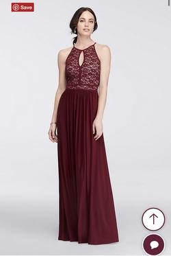 Davids Bridal Red Size 18 A-line Dress on Queenly
