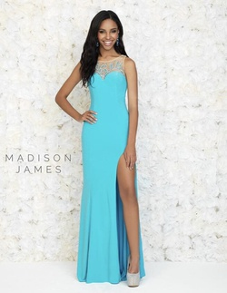 Queenly size 10  Blue Side slit evening gown/formal dress