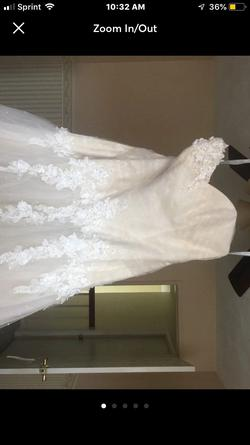 Alfred angelo Nude Size 20 Sweetheart Plus Size Mermaid Dress on Queenly